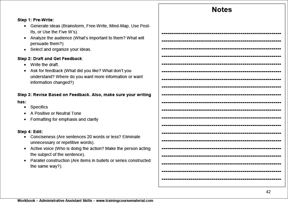 For Random Workbook Samples, Click Thumbnails Below For Larger Images.  Administrative Assistant Skills