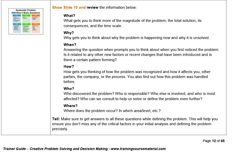 decision making questions and answers