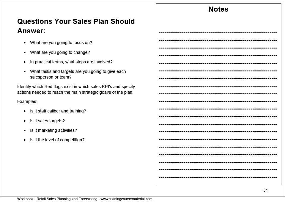 Retail Sales Plan Template Gallery - Template Design Ideas
